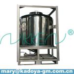 1000L storage liquid stainless steel tank with frame