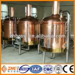 micro red copper brewing system brewed beer equipment