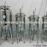 100L Conical Fermenter, Double Jacketed Beer Fermentation Tank