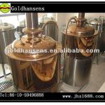 Red copper luxury beer fermentation equipment-