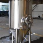 Jacketed beer fermenter