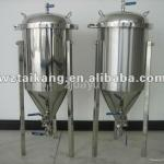 3000L small beer equipment Jacket Conical Fermenter Tank, Double Jacketed Beer Fermentation Tank