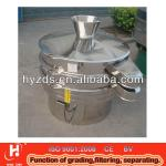 Stainless steel vibration sieve with a hopper for feeding-