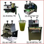 Hot sale hand-stytle/vertical type/battery type/table type sugar cane juice machine-