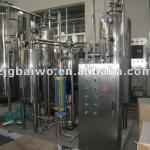 Carbonated drink mixing plant-