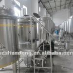 7BBL microbrewery equipment, 10Hl brewhouse, 1200l Mashkettle set up-
