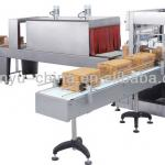Automatic automatic sleeve wrapper with shrink tunnel-