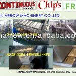 Continuous chips fryer-