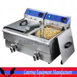 Commercial Double basket electric deep fryer with CE (DZL-20V)-