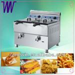 Natural Double Basket Gas Deep Fryer for sale-
