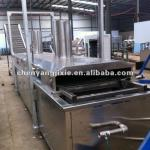 automatic continuous fryer for fry nuts, snack pellet-