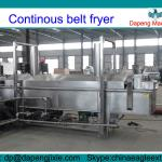 automatic continuous fryer with conveying belt-