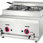 2013 hot sale counter Top 2-Tank2-Basket Gas Fryer-