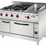 2013 Super Star Product 4-Burner Gas Range Griggle with Electric Oven
