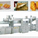 continuous meat frying machine-