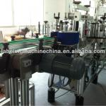 Neck front and back labeling machine-