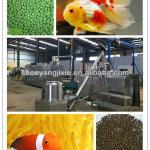 floating fish feed processing line-