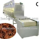 spice/flavouring tunnel microwave dryer and sterilizer