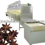 Spice and condiment microwave drying and sterilizing machine-