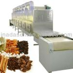 Industrial continous conveyor belt type microwave spices dryer-