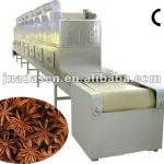 Continuous belt type spice microwave sterilizer-