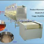 spice and condiment microwave drying and sterilizer machine