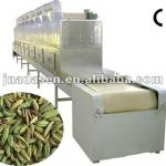 microwave conveyor oven for drying and sterilizing spice