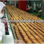 Huxin factory good price gas /electric biscuit machine-