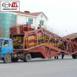 YHZS75 Mobile Concrete Mixing Plant 75m3/h ISO9001&BV Approved-