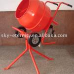 125L portable cement mixer, with mobile outrigger