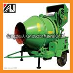 Guangzhou JZC350 Eletric Motor Concrete Mixer with Wire Rope Hopper Tipping