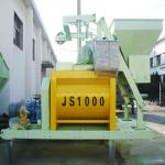 Excellent JS1000 Twin Shaft Concrete Drum Mixer-