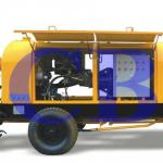 stationary concrete pump with diesel engine HBT40.13.82RS-