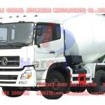 Dongfeng Dalishen double bridge concrete mixer transport truck-