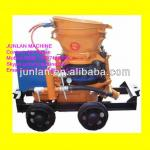 wet shotcreting machine for dry and wet building material