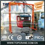 Non Power Drive Portable Gantry Cranes With Manual Trolley Hoist-