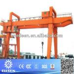 100 ton rubber tyre double girder gantry crane ,container gantry crane-