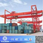 Double beam gantry crane with compact structure-