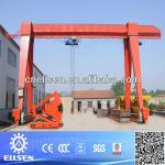 Single girder gantry crane with electric hoist-