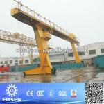 Single girder gantry crane with grab-