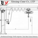 Column swing jib crane-