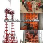 Building materials hoisting machine-