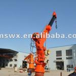 Marine Hydraulic hoisting Telescopic Crane for a ship-