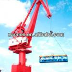Port loading and unloading crane-
