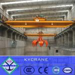 QZ double girder overhead crab bucket crane lifting bulk cargo