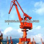 Harbour portal crane for container lifting