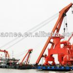 Floating dock portal crane