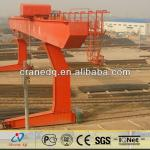 Industrial 10ton double trolley electric gantry crane lift L model