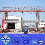 5ton single girder workshop steel construction stuss gantry crane