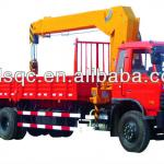 Dongfegn chasis, 10 ton,four sections straight arm,Truck With Loading Crane SLS5250JSQE